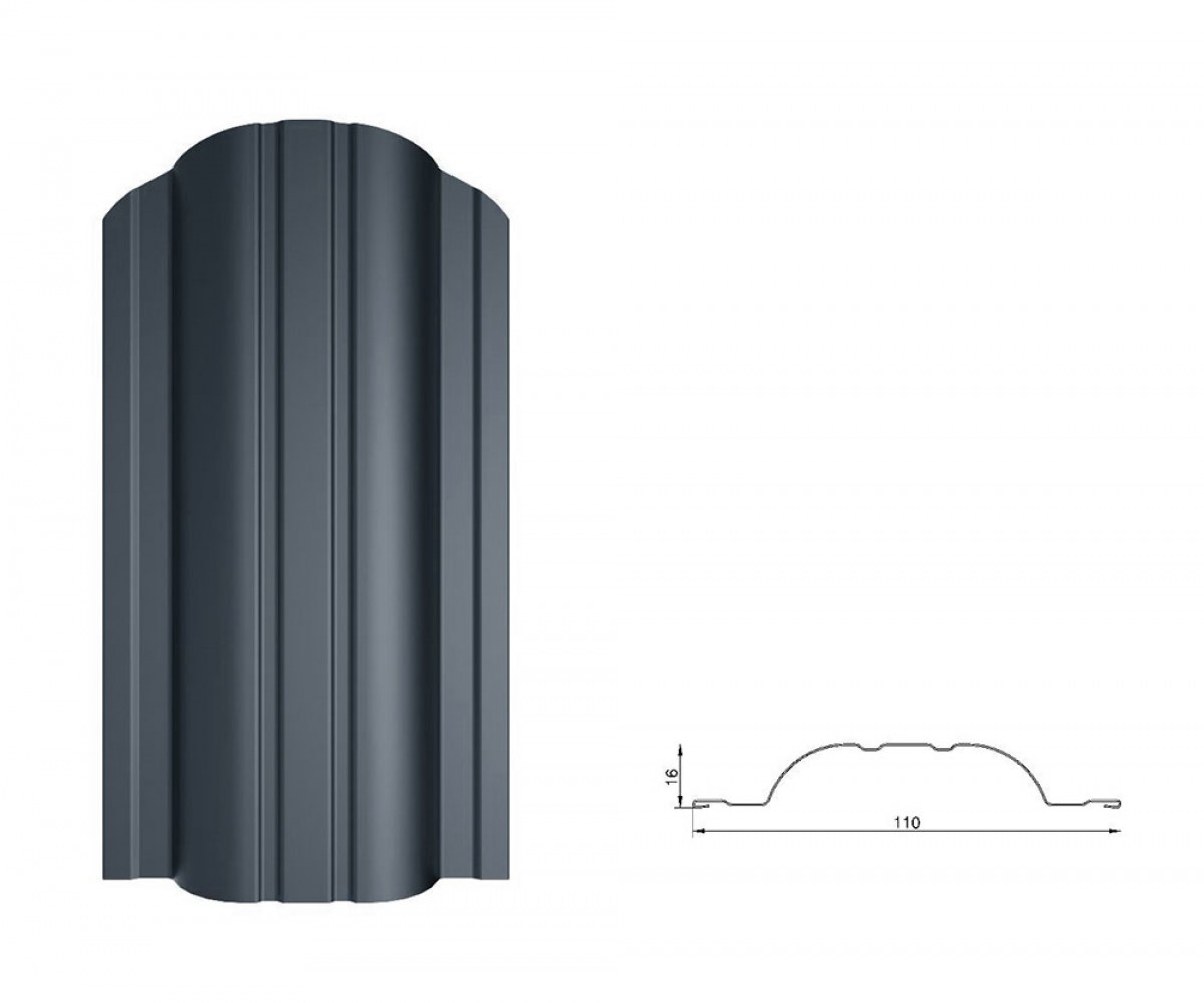 Tvoralentė POLO., 0.45 mm, 2xRAL7016 PS